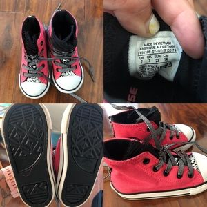 New hot pink converse- toddler size 7